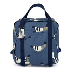 Tinycottons Pigeons Backpack Light Navy