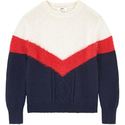 Cyrillus Navy, Red and Cream Block Sweatshirt