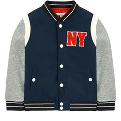 The Marc Jacobs Navy and Grey Branded Varsity Jacket