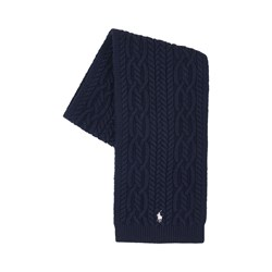 Ralph Lauren Navy Cable Knit Scarf with PP