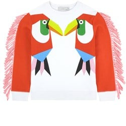 Stella McCartney Kids Kissing Toucans Tröja Vit/Röd