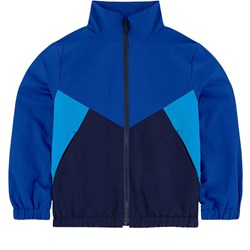 Kenzo Navy and Blue Panelled Logo Track Top