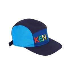 Kenzo Navy and Blue Logo 5 Panel Cap