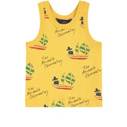 The Animals Observatory Frog Kids Tank Top Yellow Ships