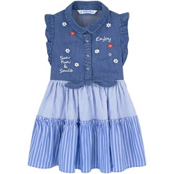 Mayoral Blue Denim Tie Bow Dress
