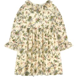 Bonpoint Multi Floral Dress Cream