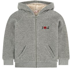 Bonpoint Sherpa Lined Hoodie Grey