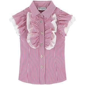 Image of Monnalisa Striped Blouse Red 4 år (1812219)