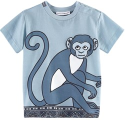 Dolce & Gabbana Monkey and Tile Print T-shirt Blå