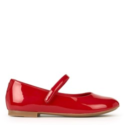 Dolce & Gabbana Patent Ballerina Shoes Red