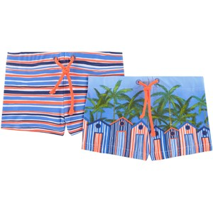 Image of Mayoral 2-Pack Palm Tree Swim Shorts Blue 9 months (1702989)