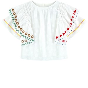 Image of Burberry Embroidered Top White 4 år (1713899)