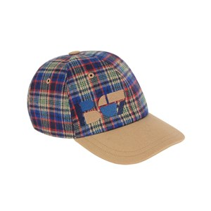 Image of Bonpoint Checked Cap Blue 14-16 years (1675587)