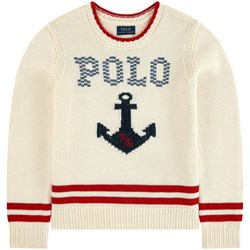 Ralph Lauren Anchor Sweater White