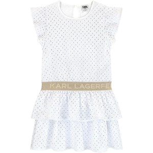 Image of Karl Lagerfeld Kids Broderie anglaise lace dress Karl Lagerfeld 16 år (1712946)