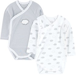 Absorba Pack of 2 crossover organic cotton onesies