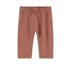 Play Up Linen Pants Brown