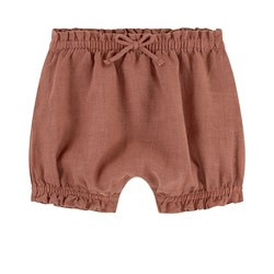 Play Up Linen Shorts Brown