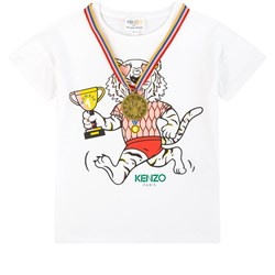 Kenzo Tiger and Gold Medal T-Shirt White