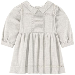 Image of Bonpoint Embroidered Dress Gray 12 mdr (1791510)