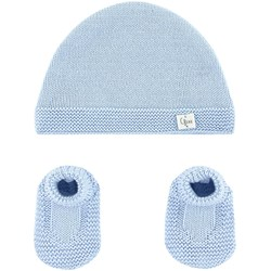Carrément Beau Organic cotton hat and booties