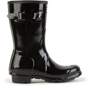 Image of Hunter Short shiny Wellington boots - Original Short Gloss Black 36 EU (1684006)