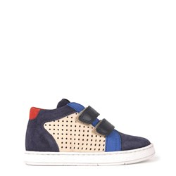 Pom d'Api Leather Sneakers Navy
