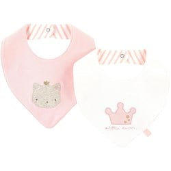 Mayoral 2-Pack Cat And Crown Bibs Pink