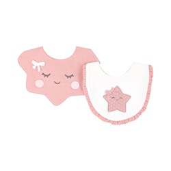 Mayoral 2-Pack Star Bibs Pink