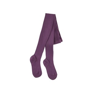 Image of Condor Aubergine ribbed knit Baby tights 0-3 months (1791970)