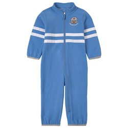 Poivre Blanc Blue Embroidered Micro Fleece Overall