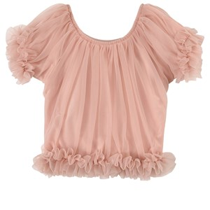 Image of DOLLY by Le Petit Tom Frilly Princess Top Ballet Pink Medium (6-8 år) (1760936)