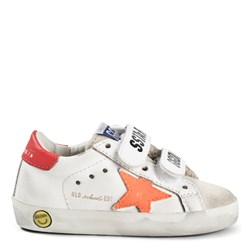 Golden Goose Old School Velcro Leather Sneakers White