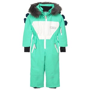 Image of Dinoski Kind Spike Dinosaur Snowsuit Green 4-5 år (1611692)