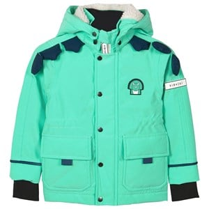 Image of Dinoski Kind Unicorn All Weather Winter Jacket Green 6-7 år (1611764)
