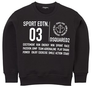 Image of DSquared2 Branded Sweatshirt Sort 10 år (1838190)