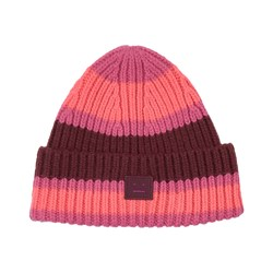 Acne Studios Knitted Wool Beanie Pink/Burgundy