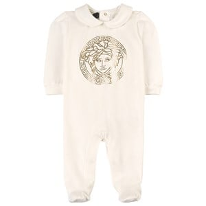 Image of Versace Medusa Footed Baby Body White 6-9 mdr (1748322)