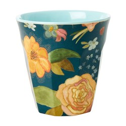 Rice Medium Melamine Cup Selma Fall Flower