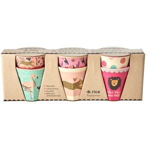Image of Rice 6-Pack Melamine Cups Jungle Animals one size (1759478)