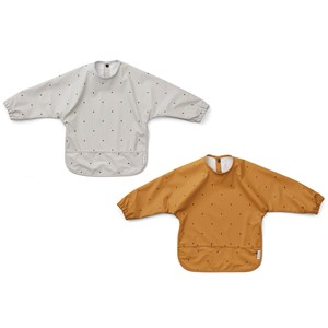 Image of Liewood 2-Pack Merle Cape Bibs Classic Dot one size (1831692)