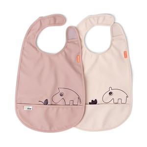 Image of Done by Deer 2-Pack Sea Friends Bibs Powder pink One Size (1673597)