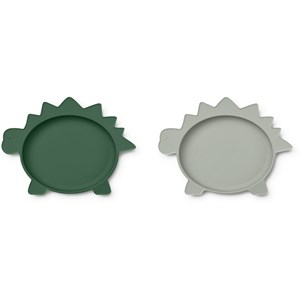 Image of Liewood 2-Pack Olivia Plates Green one size (1831697)