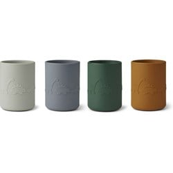 Liewood Ethan cup - 4 pack Dino blue multi mix