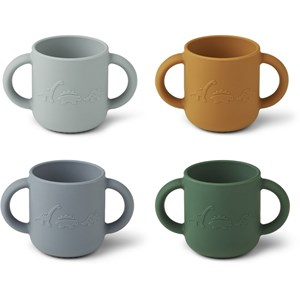 Image of Liewood 4-Pack Gene Cups Dino/Blue one size (1831680)