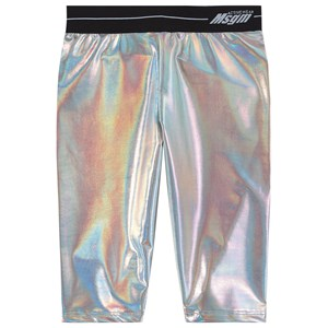 Image of MSGM Reflective Logo Cycling Shorts Shorts Silver 4 år (1781762)