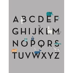 Image of By On ABC Poster Gray one size (1792536)