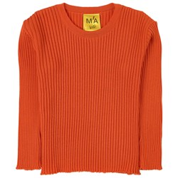 Marques Almeida Merino Wool Knit Sweater Orange