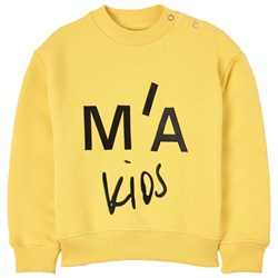 Marques Almeida Branded Embroidered Sweatshirt Yellow