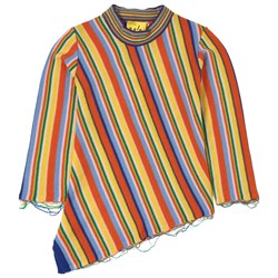Marques Almeida Merino Asymmetric Knit Sweater Multi Stripes